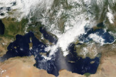 Satelitski snimak Meduze nad Grčkom