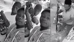 """Everybody should run"" – Young Ghanaians warn as they boldly display various guns"