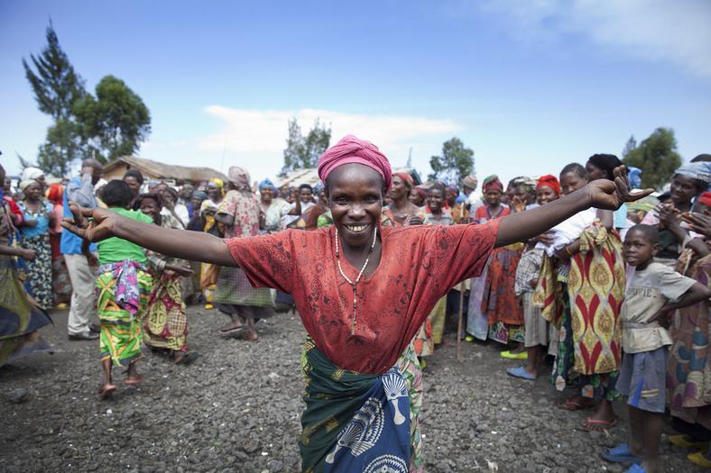 Congo women celebrate