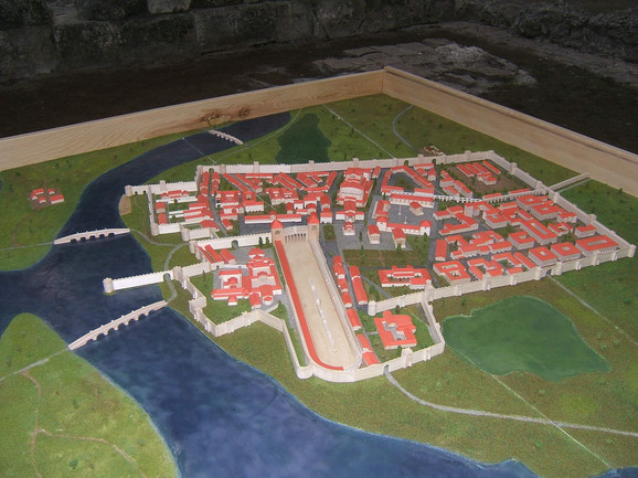Maketa Sirmijuma, jedne od prestonica Rimskog carstva