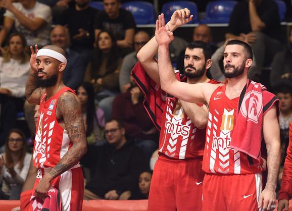 Košarkaši Crvene zvezde na meču sa KK Cedevita Olimpija
