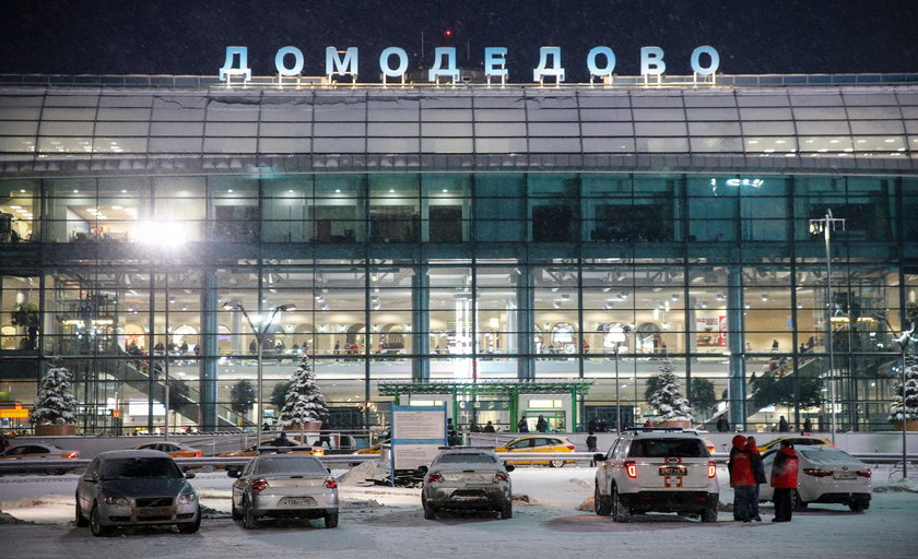 Moskiewskie lotnisko Domodedovo
