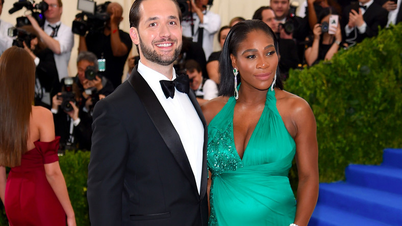 Reddit founder Alexis Ohanian and Serena Williams.