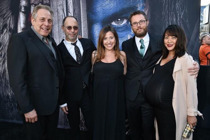 Dankan sa suprugom (desno) 2016. u Los Anđelesu