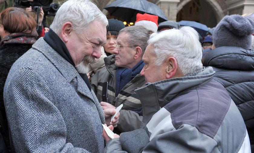 Prezydent podzielił się opłatkiem z krakowianami