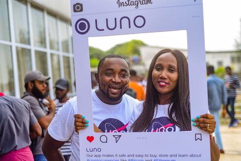 Luno Nigeria representatives at a meetup event in Lagos