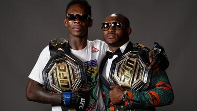 Nigerian UFC stars Israel Adesanya and Kamaru Usman maintain their positions in top ESPN's Men's pound-for-pound rankings