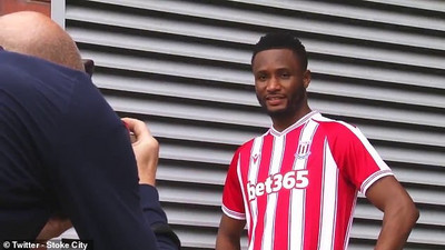 Former Super Eagles captain Mikel Obi joins Stoke City on a one-year deal
