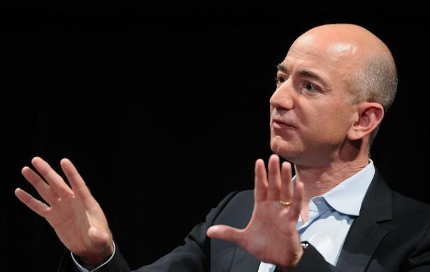 """Jeff Bezos, Amazon.com Inc., przemawia podczas """"Disruptive by Design"""", konferencji zorganizowanej przez WIRED Magazine, Nowy Jork ,USA"""