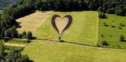 Serce w Bieszczadach. Zrobił je dla zmarłej żony