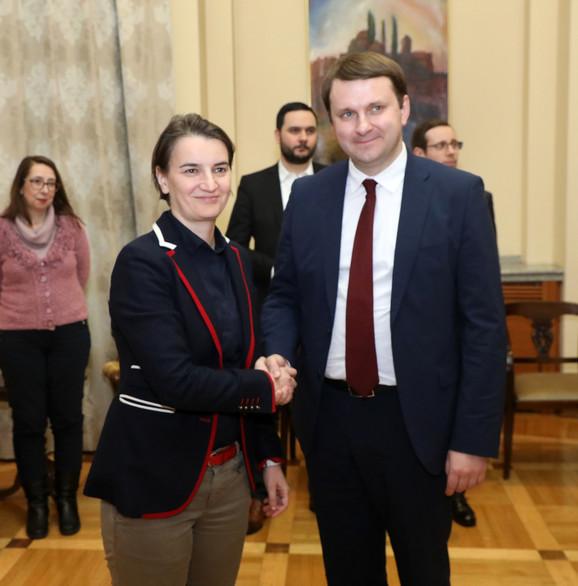 Ana Brnabić i Maksim Oreškin