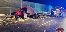Tragedia na autostradzie A2. Nie żyje kierowca, pięć osób w szpitalu