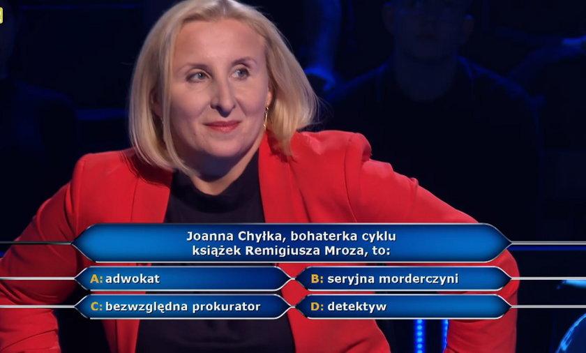 """""""Milionerzy"""" - kim jest Joanna Chyłka? Nauczycielka z Częstochowy nie miała pojęcia!"""