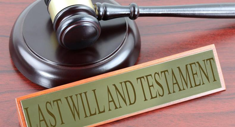 Stock image on last will and testament