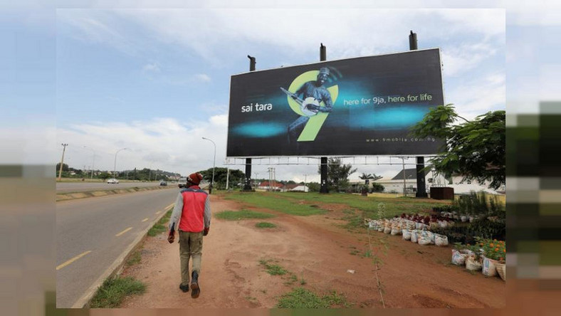 9mobile billboard used to illustrate the story