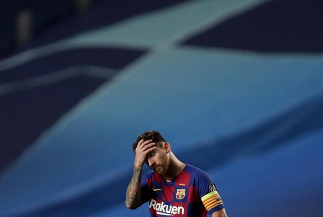 Lionel Mesi posle šokantnog poraza Barselone od Bajerna sa 8:2 u četvrtfinalu Lige šampiona