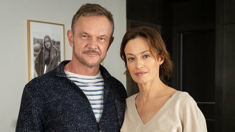 Magda Różczka i Cezary Pazura