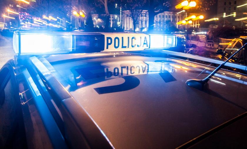 Strzały w Grudziądzu, potrącony policjant. Trwają poszukiwania sprawcy.