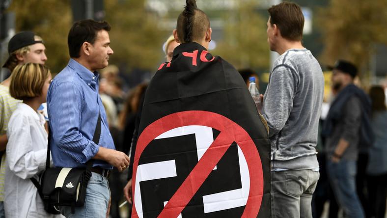 Przeciwnicy skrajnej prawicy w Chemnitz
