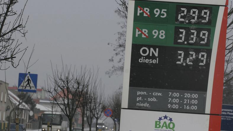 Styczeń 2009 roku, stacja paliw przy jednym z hipermarketów w Konstancinie. Litr benzyny kosztował 2,99 zł. Mówiono wówczas, że to najtańsze paliwo w kraju. Baryłka ropy na początku roku kosztowała ok. 47 dolarów. W lutym spadła do 44 dolarów. Kolejne miesiące niosły ze sobą wzrost cen tego surowca.