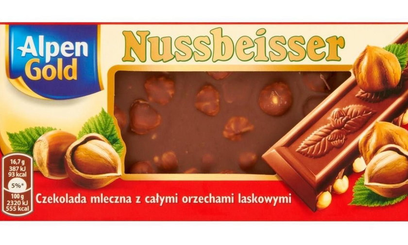 Oryginalna czekolada Alpen Gold Nussbeisser