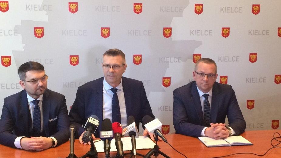 Bogdan Wenta i jego byli zastępcy: Marcin Różycki i Arkadiusz Kubiec