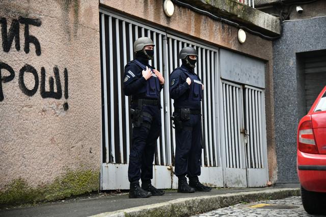 Policija na stadionu Partizana