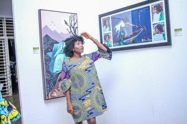 Photo Caption: Some of the attendees viewing and showing their appreciation for the art on display at the Life in My City Art Festival held recently in Enugu