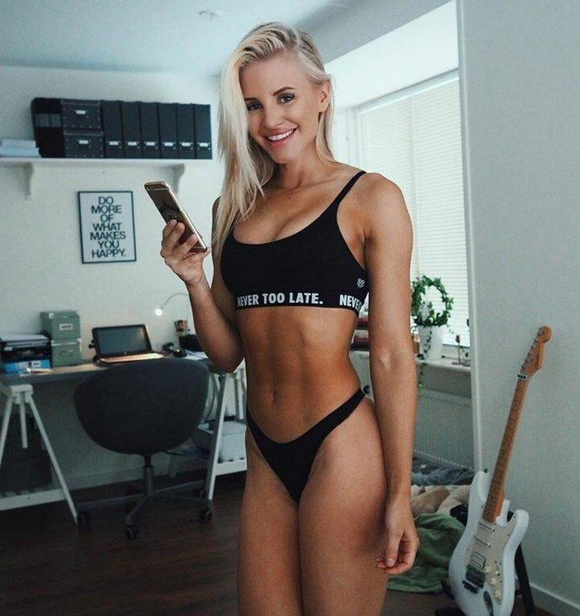 Piękna trenerka fitnessu, która wiele przeszła