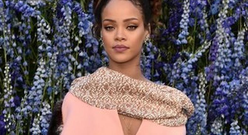 Rihanna rocking an up do