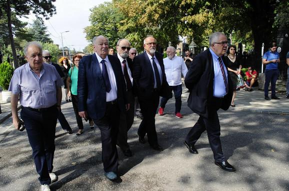 Predstavnici SANU sa predsednikom Vladimirom Kostićem na čelu