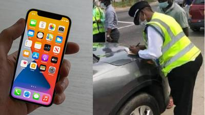Ghana policewoman begs driver to return iPhone 12 pro max she left in his car after taking bribe