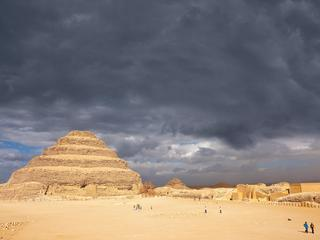 Egypt, Lower Egypt, Saqqara, listed as World Heritage by UNESCO, the step pyramid of King Djoser (Zo