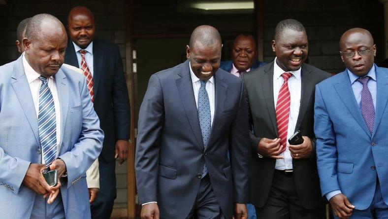 File image of DP William Ruto with a section of Western leaders