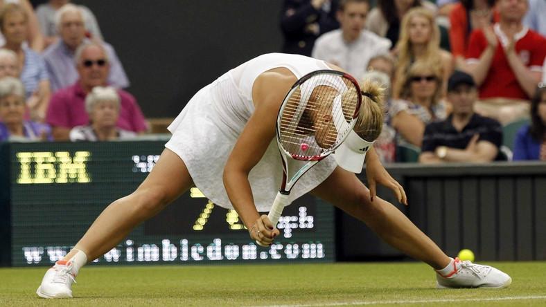 Caroline Wozniacki odpadła w pierwszej rundzie turnieju tenisowego w Wimbledonie