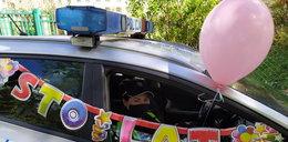 Urodziny w czasie pandemii. Policjanci zrobili Ani wyjątkowy prezent