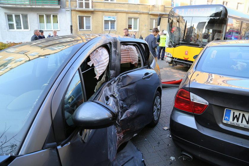 Wypadek autobusu na Mokotowie