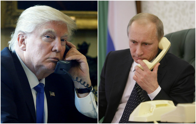 Donald Tramp i Vladimir Putin