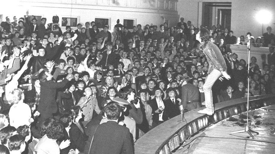 Występ The Rolling Stones w warszawskiej Sali Kongresowej 1967 r.
