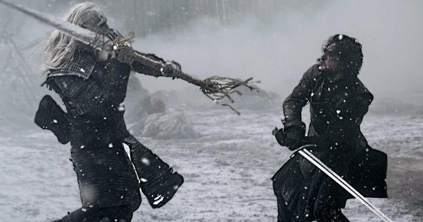"""Jon Snow walczy z Białym Wędrowcem w 7. sezonie """"Gry o Tron"""""""