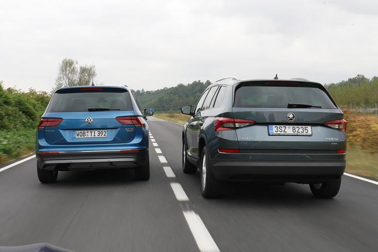 Porównanie: Skoda Kodjaq kontra VW Tiguan