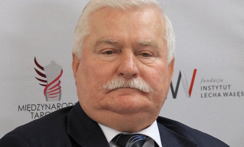 Lech Wałęsa na otwarciu Ptak Fashion City