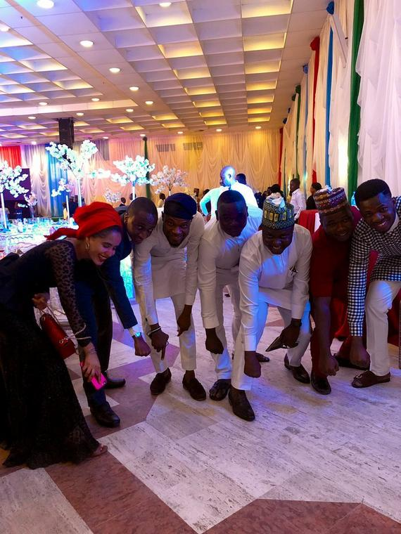 "APC supporters at the ""Thank You Dinner"" hosted by the Vice President, Prof Yemi Osinbajo on Thursday, March 14, 2019 [Twitter@Johannxs]"