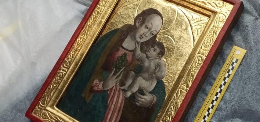Policjanci znaleźli XVI-wieczny obraz zrabowany z kościoła. Świętokradcy chcieli zarobić na Matce Boskiej!