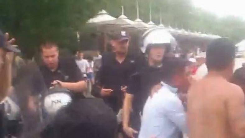 Kadr z filmu nagranego podczas interwencji policji