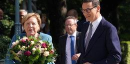 Angela Merkel w Polsce. Wymowny gest kanclerz Niemiec na początku wizyty w Warszawie