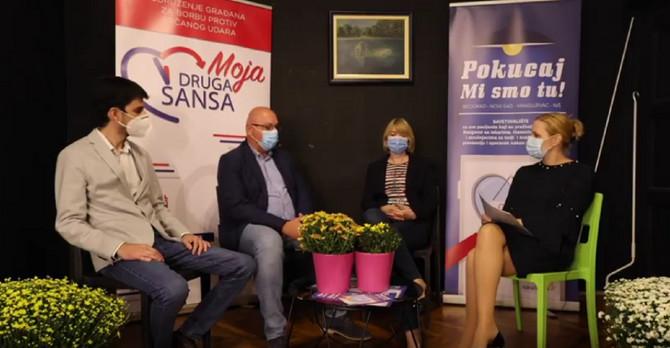 Ivan Tojagić, prof. dr Milovan Petrović i primarijus dr Tanja Jozić