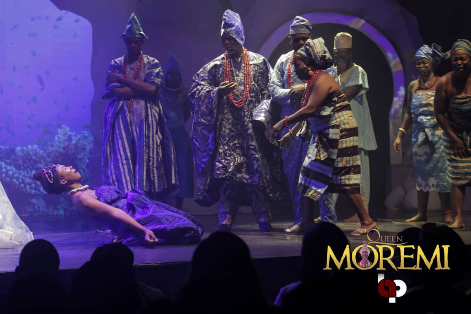 Emotional scene during Queen Moremi