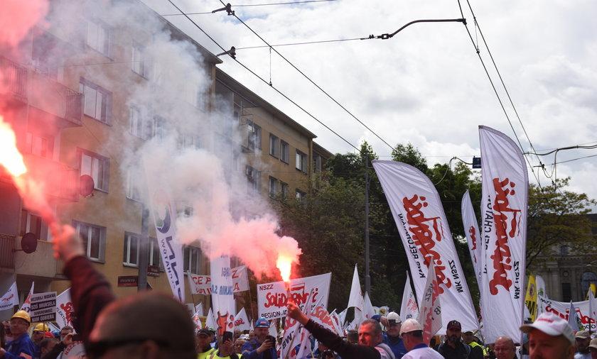 Wrocław. Protest pracowników kopalni Turów