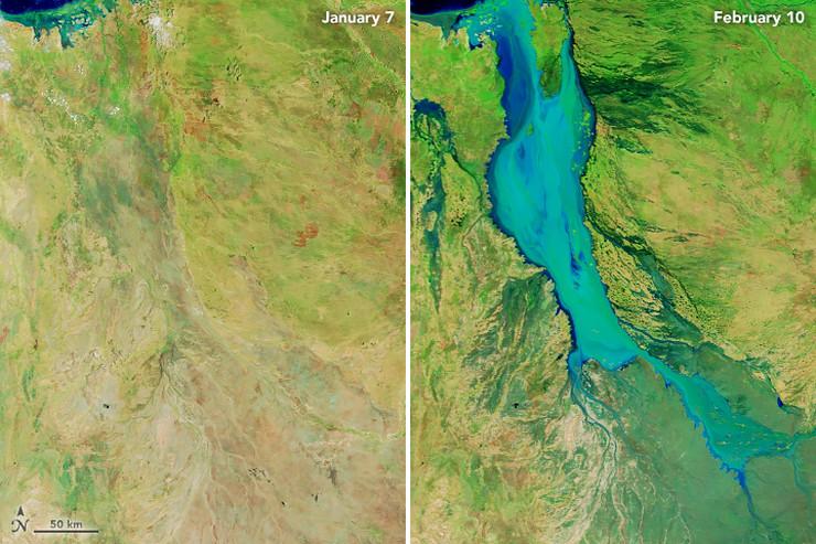 reka flinders australija poplave